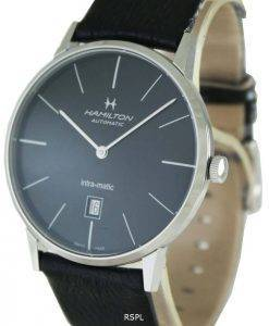 Hamilton Automatic Intra-Matic Black Dial H38755731 Mens Watch