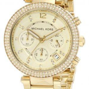 Michael Kors Parker Glitz Chronograph Crystals MK5354 Womens Watch