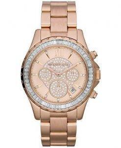 Michael Kors Madison Rose Gold Crystal Chronograph MK5811 Womens Watch