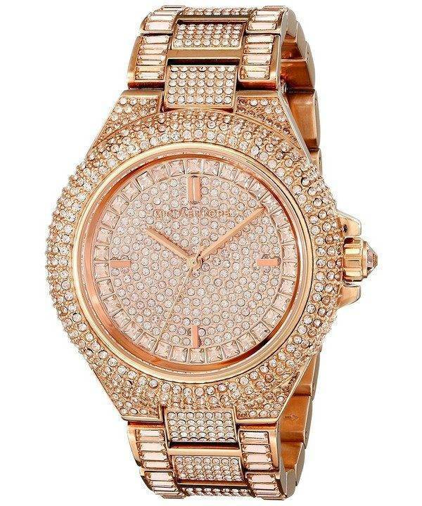 b00843ee03a Michael Kors Camille Rose Gold Crystals Pave Dial MK5862 Womens Watch  Singapore