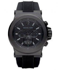 Michael Kors Black Silicone Strap MK8152 Mens Watch