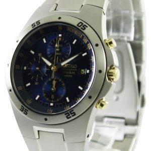 Seiko Chronograph Titanium Two-tone Mens Watch SND449P1