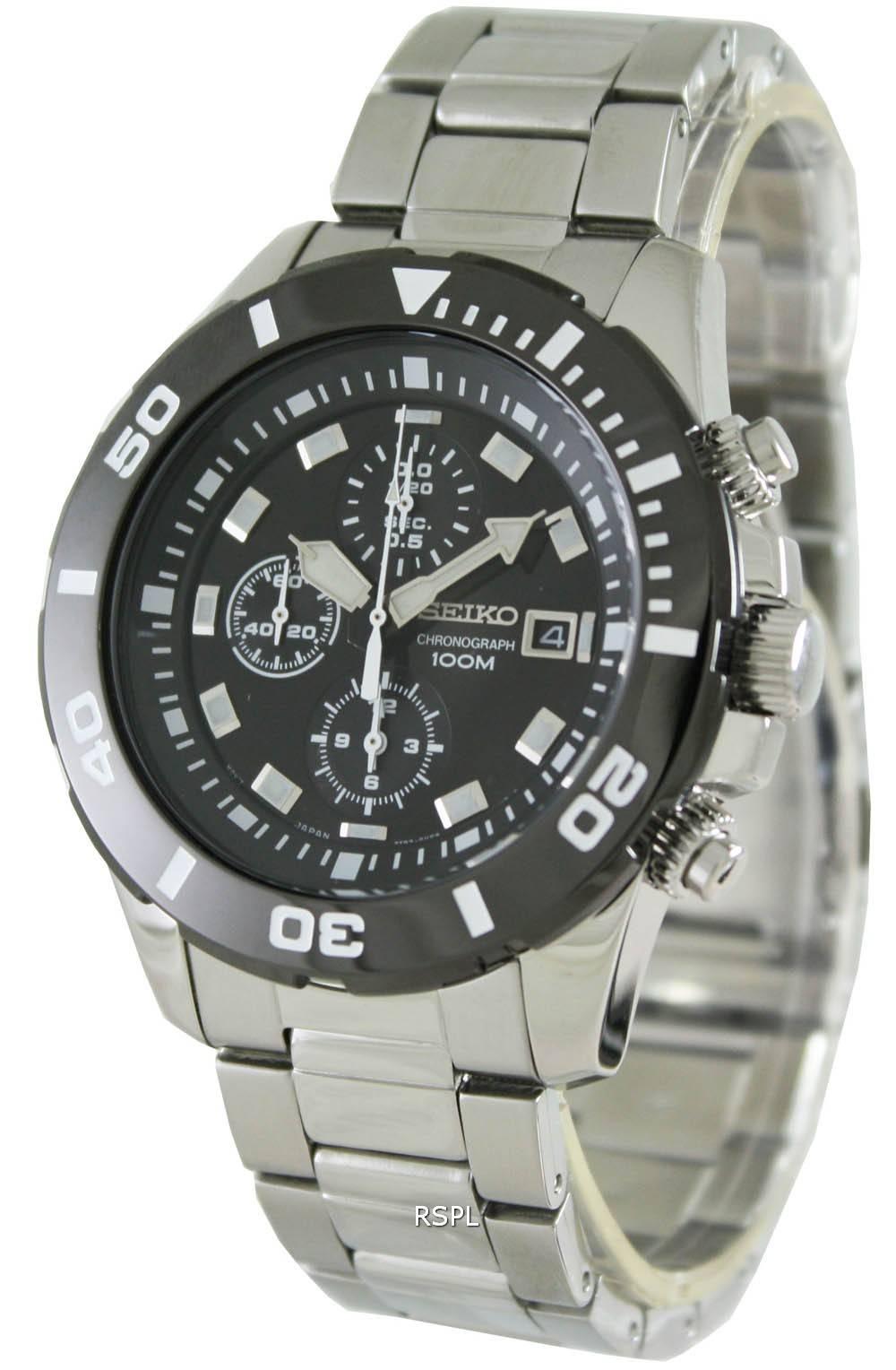 seiko mens neo sport quartz chronograph sndd99p1