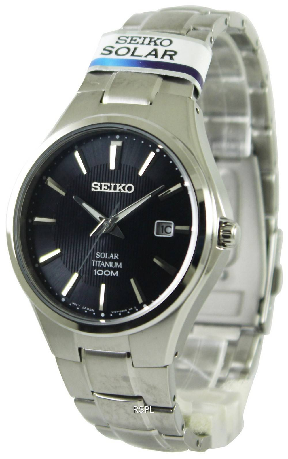 Seiko Solar Titanium 100m Sne377p1 Sne377p Mens Watch