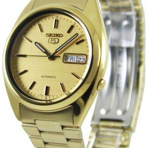 Seiko 5 Automatic Gold Dial SNXL72K1 SNXL72K Mens Watch