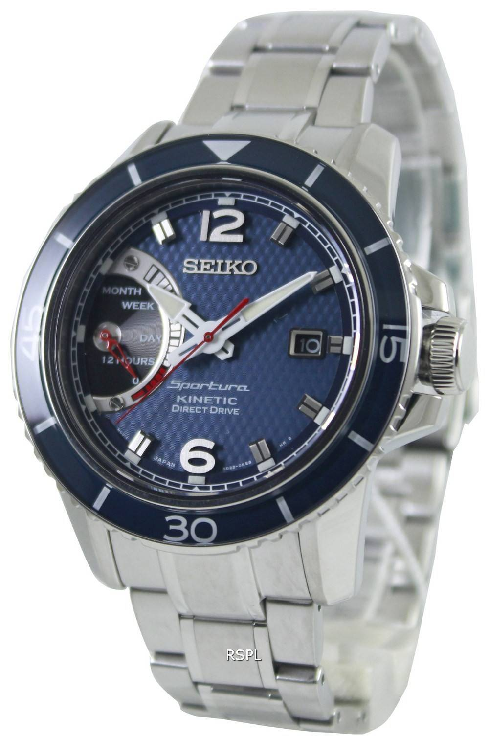 Seiko sportura kinetic direct drive srg017p1 srg017p mens watch singapore for Watches direct