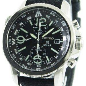 Seiko Prospex Solar Military Alarm Chronograph SSC293P2 Mens Watch