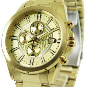Citizen Chronograph Gold Tone AN3562-56P Mens Watch
