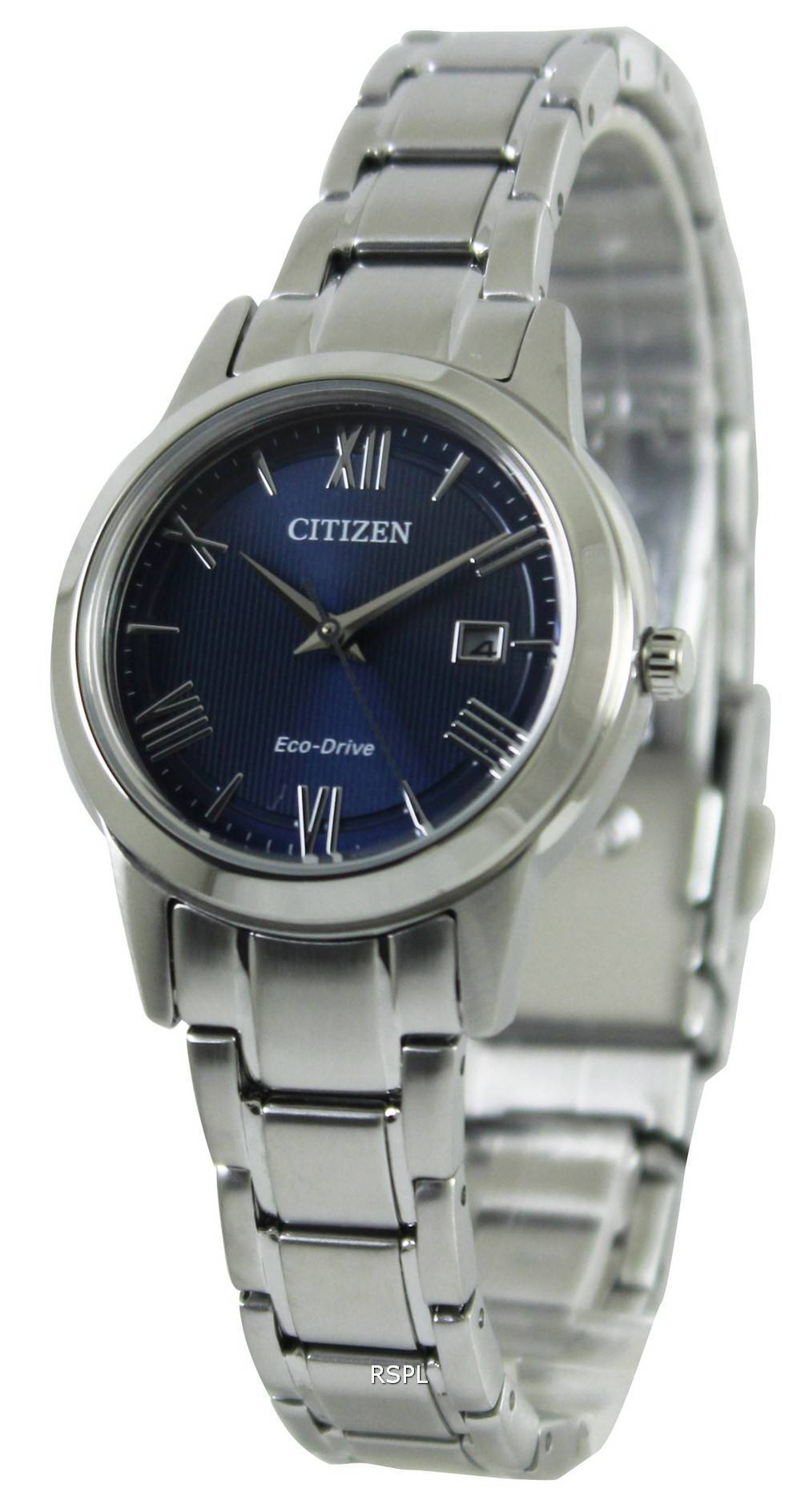 Citizen eco drive blue dial fe1081 59l womens watch singapore for Eco drive watch