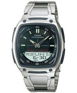 Casio Analog Digital Telememo Illuminator AW-81D-1AVDF AW-81D-1AV Mens Watch