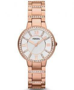 Fossil Virginia Three-Hand Crystal Gold Tone ES3284 Womens Watch