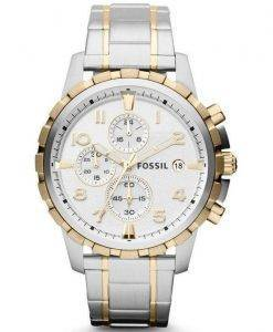 Fossil Dean Chronograph Two-Tone Stainless Steel FS4795 Mens Watch