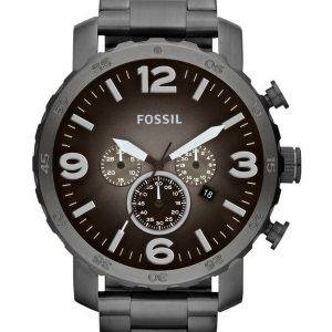 Fossil Nate Chronograph Smoke Grey Dial JR1437 Mens Watch