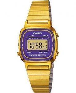 Casio Digital Stainless Steel Alarm Timer LA670WGA-6DF LA670WGA-6 Womens Watch