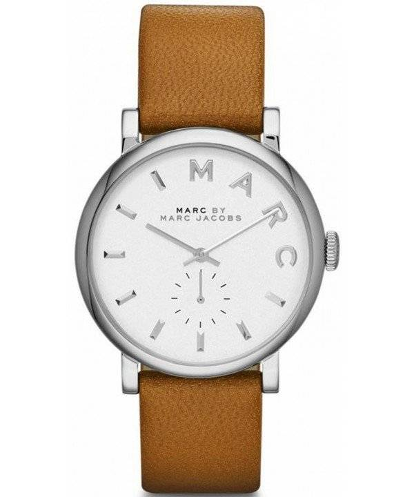 Marc By Marc Jacobs Baker White Dial Leather Band MBM1265 ...