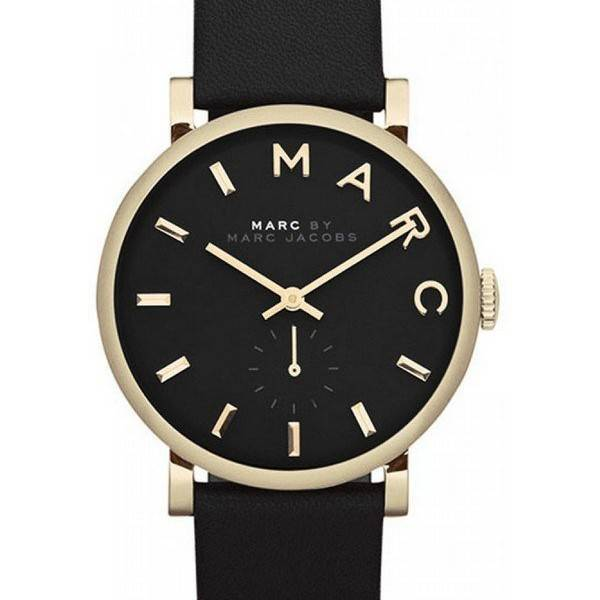 Marc By Marc Jacobs Baker Black Dial Leather Band MBM1269 ...