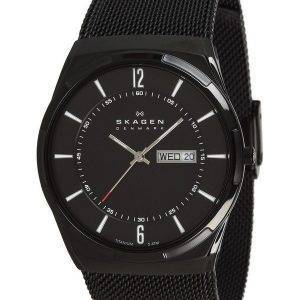 Skagen Melbye Black Titanium Case with Mesh Band SKW6006 Mens Watch