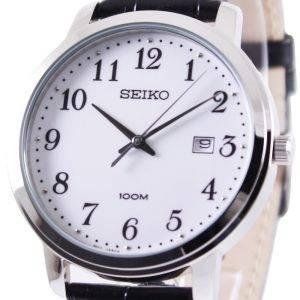 Seiko Quartz Leather Strap SUR113P1 SUR113P Mens Watch