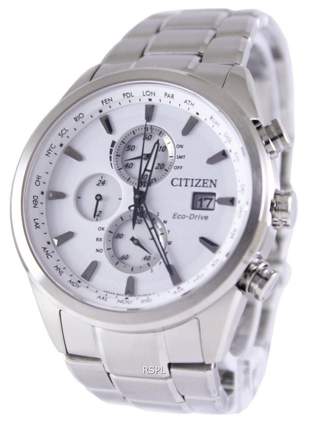Citizen Eco-Drive Chronograph Radio Controlled Atomic AT8011-55A Watch 1824d34605