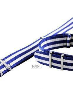 Blue And White Nato Strap 22mm For SKX007, SKX009, SKX011, SRP497, SRP641