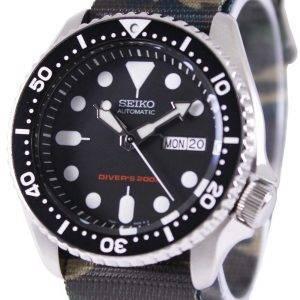 Seiko Automatic Divers 200M Army NATO Strap SKX007K1-NATO5 Mens Watch