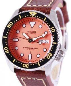 Seiko Automatic Divers Brown Leather SKX011J1-LS1 200M Mens Watch