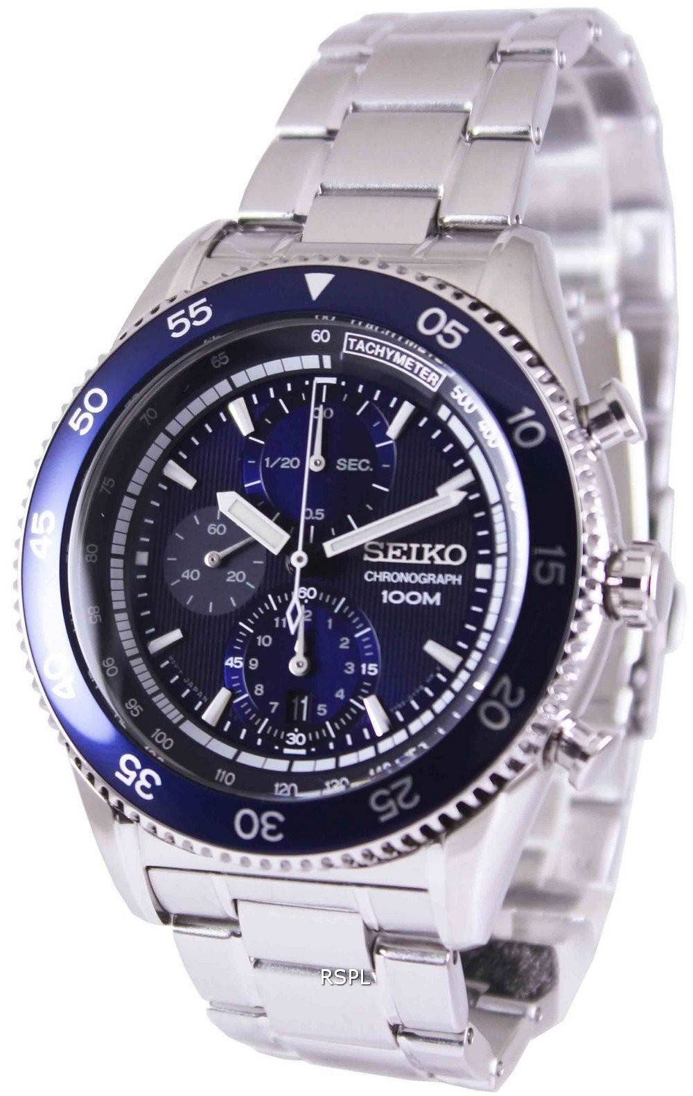 seiko chronograph tachymeter 100m sndg55p1 sndg55p mens