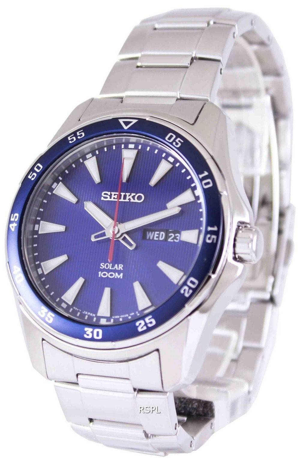 Seiko solar 100m sne391p1 sne391p mens watch singapore for Solar watches