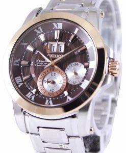 Seiko Premier Kinetic Perpetual SNP128P1 SNP128P Mens Watch
