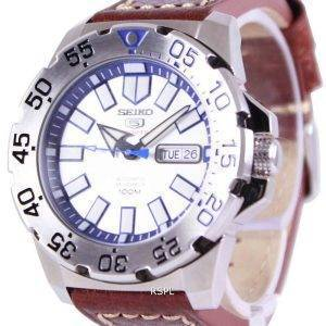 Seiko 5 Sports Automatic Ratio Brown Leather SRP481K1-LS1 Mens Watch