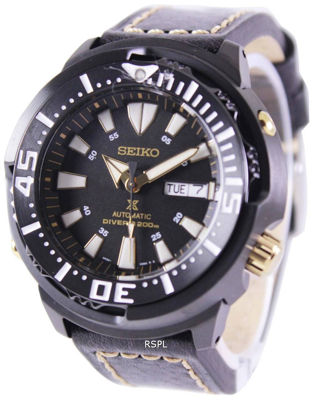 Seiko Prospex Baby Tuna Automatic Divers 200M Leather Strap SRP641K1-LS2  Mens Watch eebe05e65