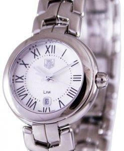 Tag Heuer Link Bracelet Silver Guilloche Dial WAT1416.BA0954 Womens Watch