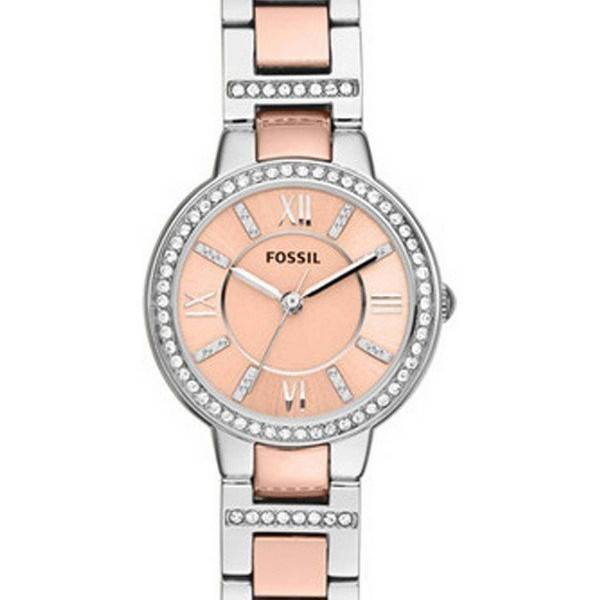 fossil virginia two tone es3405 womens