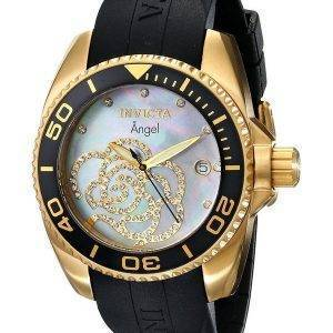 Invicta Angel Collection Diamonds Gold Tone 0489 Womens Watch