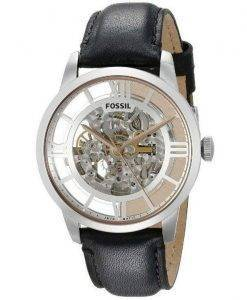 Fossil Townsman Automatic Skeleton Dial Black Leather ME3041 Mens Watch