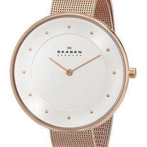 Skagen Silver Dial Rose Gold-Tone Mesh Bracelet SKW2142 Womens Watch