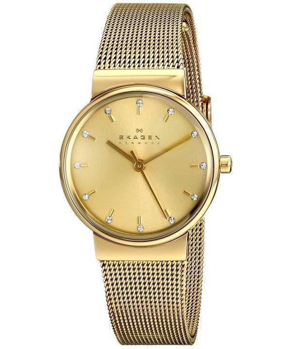 b70f367ad268 Skagen Ancher Champagne Dial Gold-Plated Mesh Bracelet SKW2196 Womens Watch