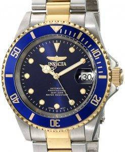Invicta Automatic Pro Diver Blue Dial Two Tone Stainless Steel 17045 Men's Watch