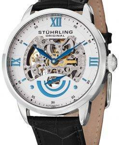 Stuhrling Original Executive II Automatic White Skeleton Dial 574.01 Mens Watch