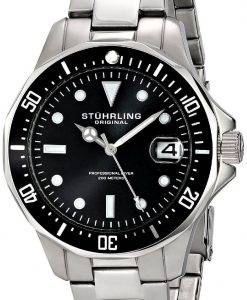 Stuhrling Original Aquadiver 200M Quartz Date 664.01 Mens Watch