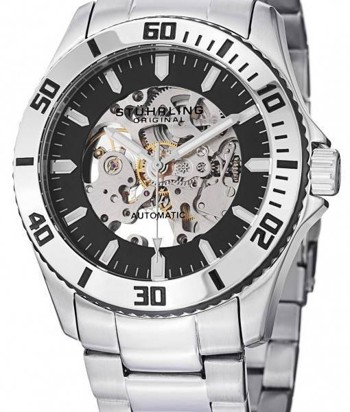 Stuhrling Original Antilles Automatic Skeleton 773.01 Mens Watch