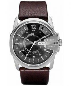 Diesel Master Chief Quartz Brown Leather DZ1206 Mens Watch