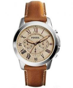 Fossil Grant Chronograph Leather FS5118 Mens Watch