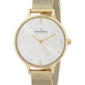 Skagen Anita Gold Tone Mesh Bracelet Crystallized SKW2150 Womens Watch