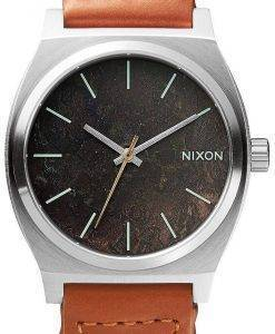 Nixon Time Teller Dark Copper Saddle Woven A045-1959-00 Mens Watch