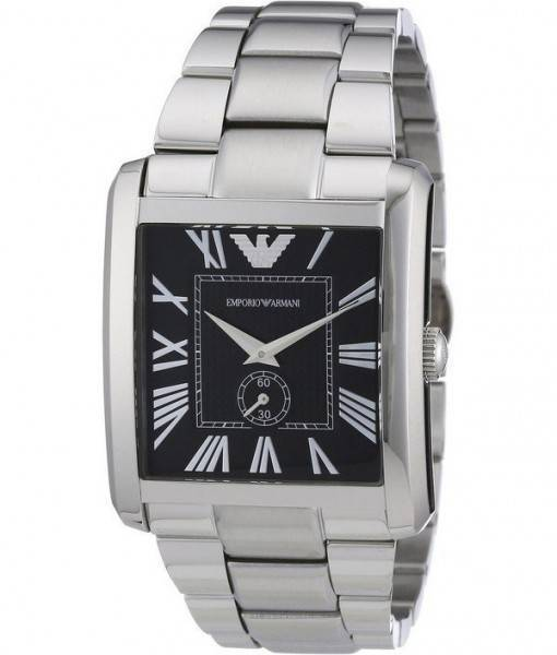 Emporio Armani Classic Black Dial AR1642 Mens Watch