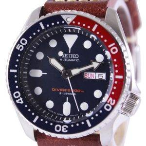 Seiko Automatic Divers Ratio Brown Leather SKX009J1-LS1 200M Mens Watch