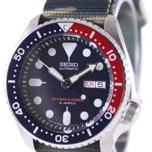 Seiko Automatic Divers 200M Army NATO Strap SKX009J1-NATO5 Mens Watch