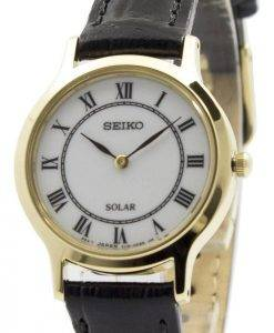 Seiko Solar White Dial Leather Strap SUP304P1 SUP304P Womens Watch