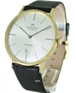 Hamilton Automatic Intra-Matic Yellow Gold PVD H38735751 Mens Watch